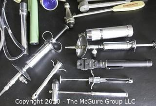 Large Collection of Vintage Medical Tools and Equipment.