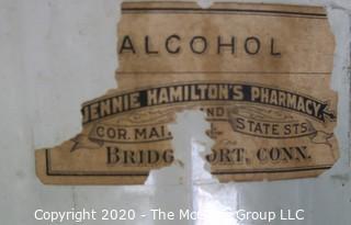 Eight Vintage Hand Blown Blue Green Bottles.  Some Medical.