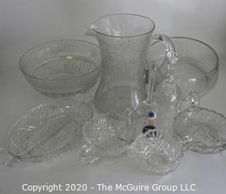Collection of Crystal Glassware