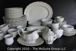 Set of White Heavy Porcelain Dishware made by Booth's of England.