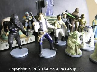Lot of Star Wars Action Fleet Action Figures with Base.