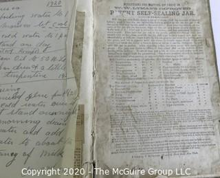 Very Old Handmade Recipe Scrap Book.  In poor condition, but original owner used another book as the base for their own favorite recipe collection, both written and clipped.
