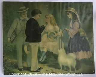 Vintage Unframed Print on Canvas by Carpenter.