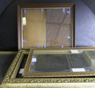 Group of Vintage Frames in Various Sizes.  Most Gilt.