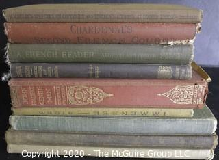 Lot of 9 Vintage Hard Cover Books.