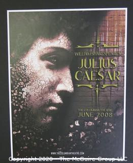 "2008 Julius Caeser Movie Poster.  Measures approximately 13"" x 10""."