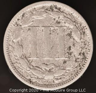 1865 Three Cent Coin