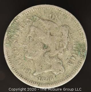 1866 Three Cent Coin