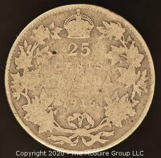 1916 Canadian Quarter