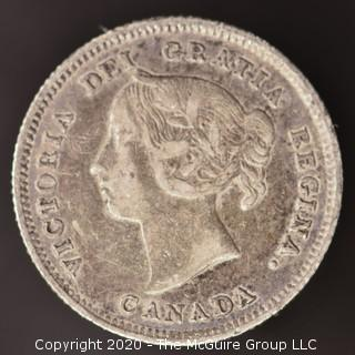 1886 Canadian Nickel; Small 6