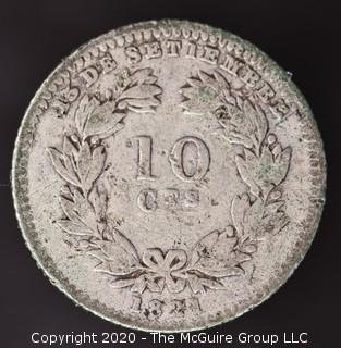 1880 Nicaragua 10 Centavos; Silver