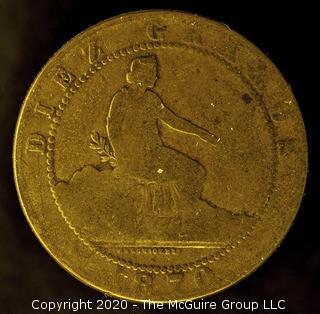 1870-OM Spain 10 Centimos