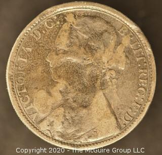 19th c British Farthing Coin