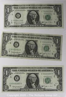(9) Series E 1 dollar U.S. Currency Notes