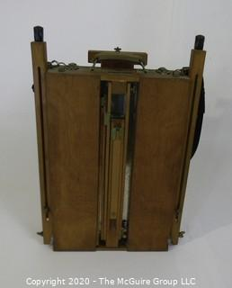 Vintage Grumbacher made in France, Folding Field Easel for Plein Air with Strap and Umbrella (not shown)