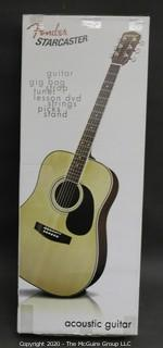 Starcaster by Fender Acoustic Guitar Pack with Accessories in Natural Color.  New in Box Perfect for beginners.