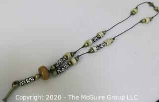 Necklace with Trade Beads on Cord.