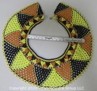 Hand Beaded Collar Style Woven Necklace.