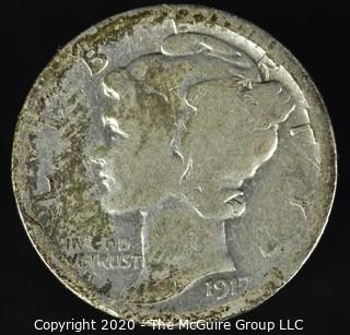 1917-S Mercury Dime