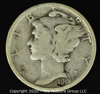 1918-D Mercury Dime