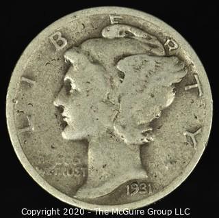 1931-S Mercury Dime