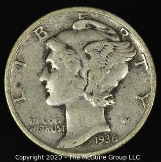 1936 Mercury Dime