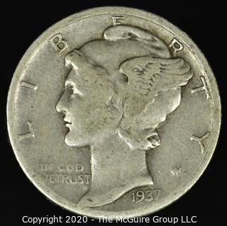1937-D Mercury Dime