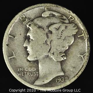 1938-D Mercury Dime