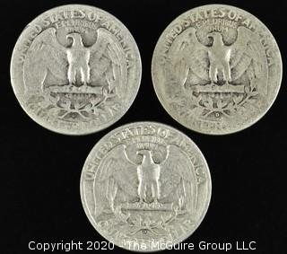 (3) 1944 Washington Quarters