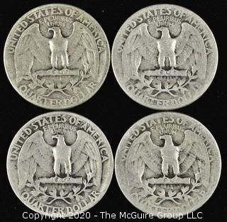(4) 1943 Washington Quarters