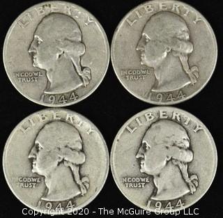 (4) 1944 Washington Quarters
