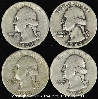 (4) 1944 Washington Quarters