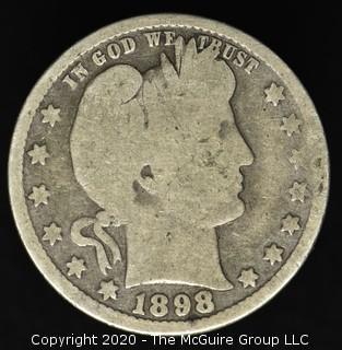 1898 Barber Quarter