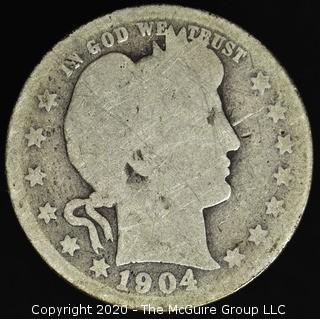 1904-O Barber Quarter