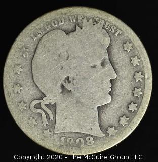 1908 Barber Quarter