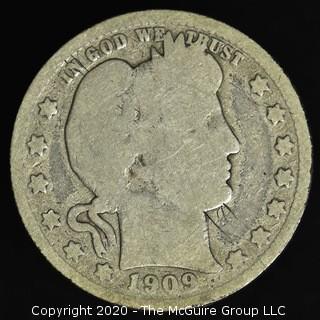 1909-S Barber Quarter