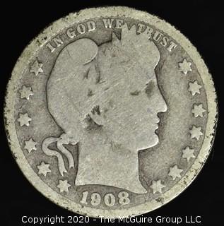 1908-D Barber Quarter