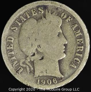 1906-O Barber Dime