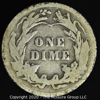 1908 Barber Dime
