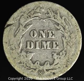 1908-S Barber Dime