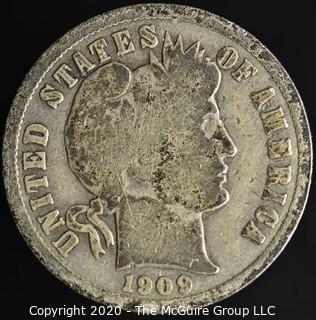 1909-D Barber Dime