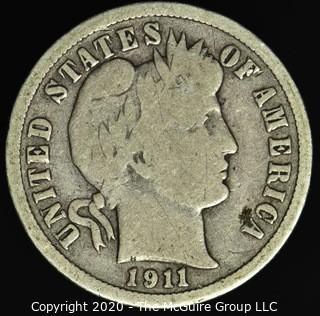 1911-D Barber Dime