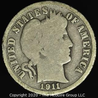1911-S Barber Dime