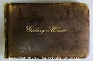 Antique Leather Bound Autograph Book with Signatures