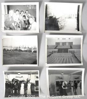 Six Black & White Photo Album Pictures Featuring Military Life.