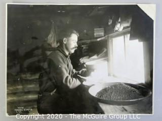 "Black & White Photo of Sifting Gold from the Sluces, by Asahel Curtis.  Measures approximately 8"" x 11""."