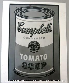 Art: Photo print: B&W: Andy Warhol: Soup Can; Museum show 1991