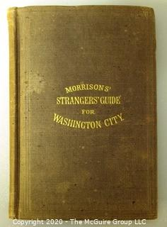 Antique 1870 Morrison's Strangers' Guide for Washington DC, Travel Guide Full of Wood and Steel Engravings.