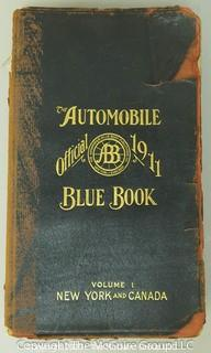 The Automobile Official 1911 Blue Book Volume 1, New York & Canada