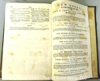 1853 The Key To Uncle Tom's Cabin, Facts and Documents Upon Which the Story is Founded by Harriet Beecher Stowe.  FIRST EDITION.
